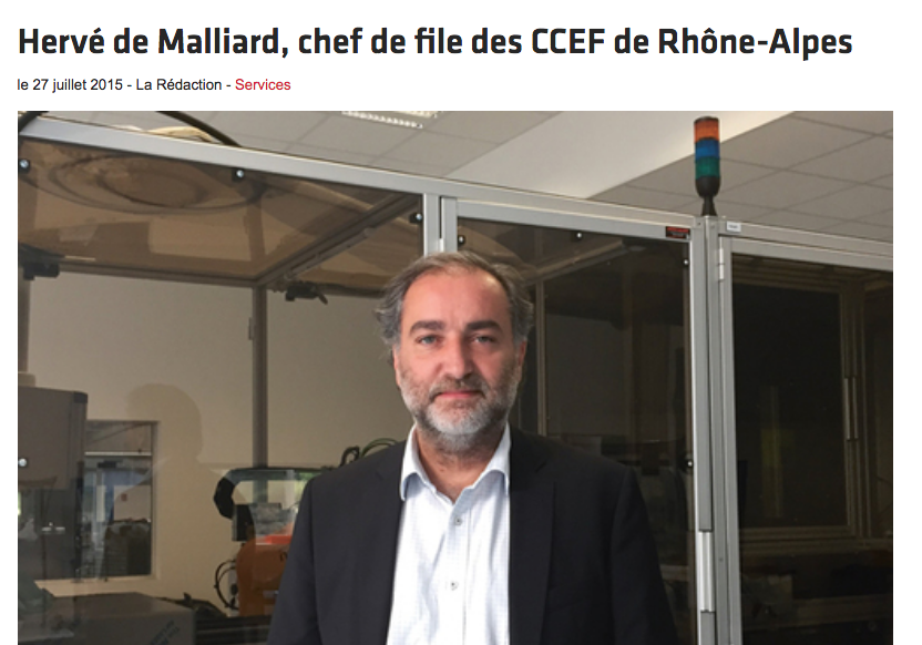 Herve de Malliard, CEO of MGA Tech: leader of the CCEF Rhône-Alpes