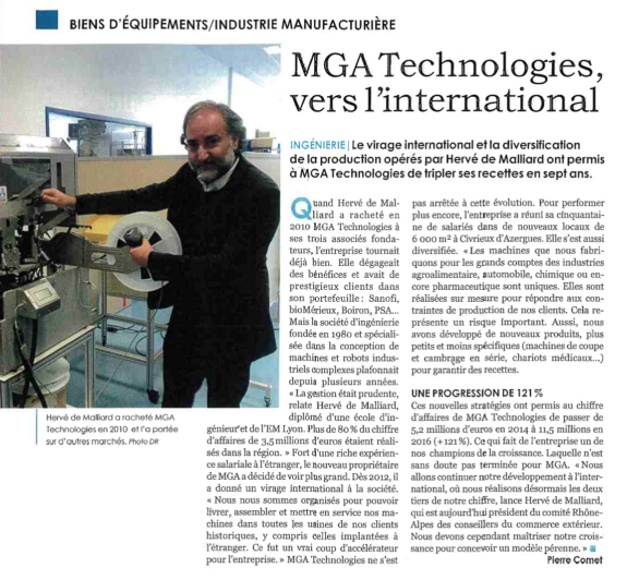 MGA Technologies continues its development with international growth