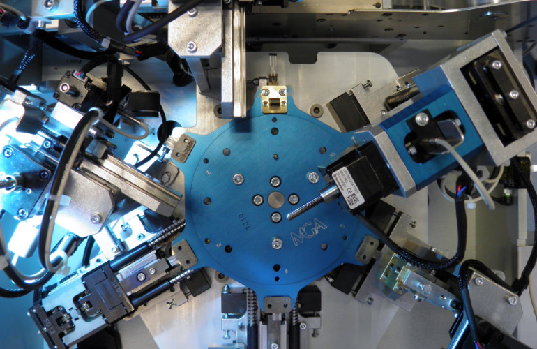 Hall sensor cutting and forming equipment