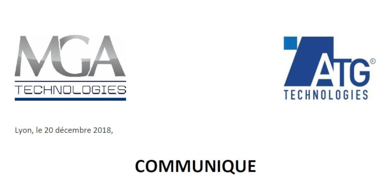 Press release - MGA Technologies acquires ATG Technologies