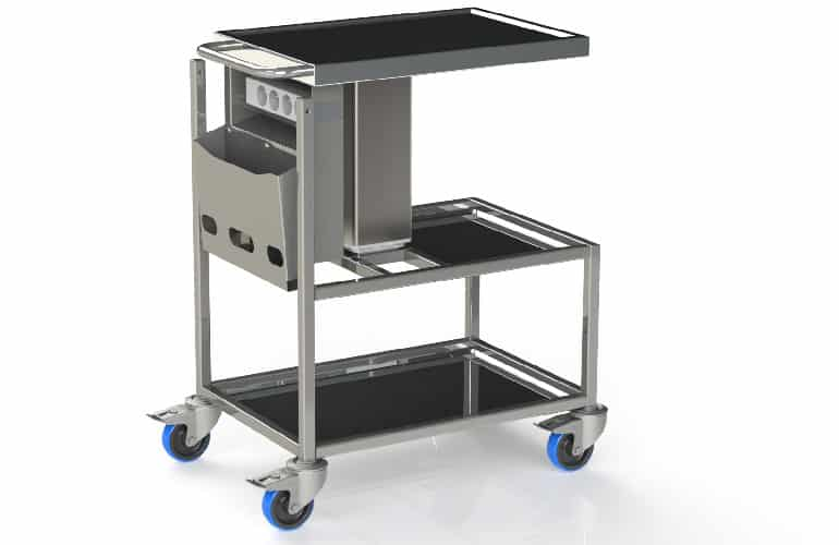 Stainless-steel Medical Trolley with trays