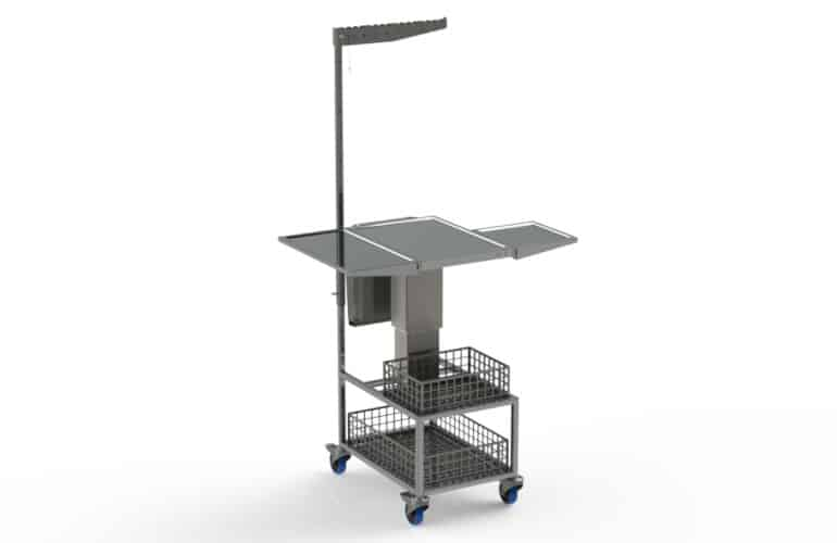 Modular stainless steel treatment trolley