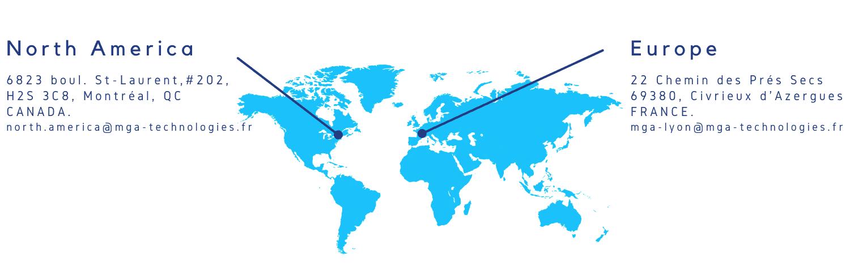 MGA Technologies - World Map