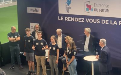 """Robo'Lyon won the """"GLOBAL INNOVATION CHALLENGE"""" in the FIRST Robotics Competition"""